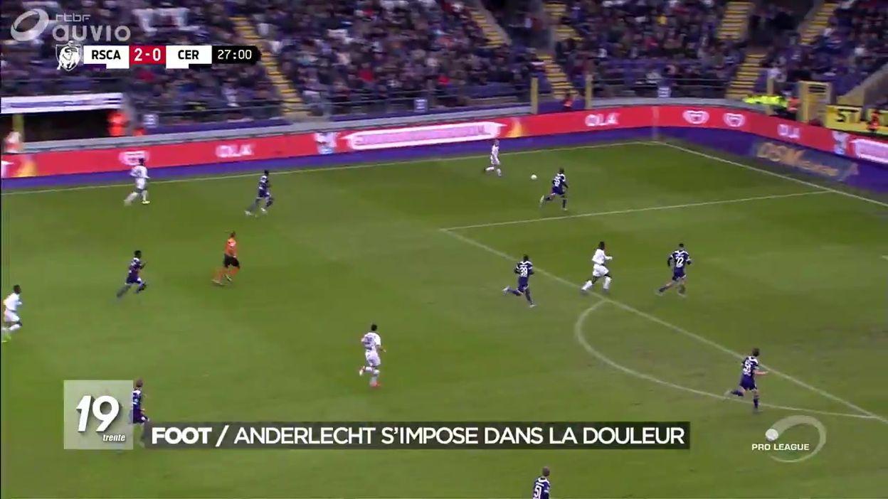 Football : Anderlecht s'impose dans la douleur