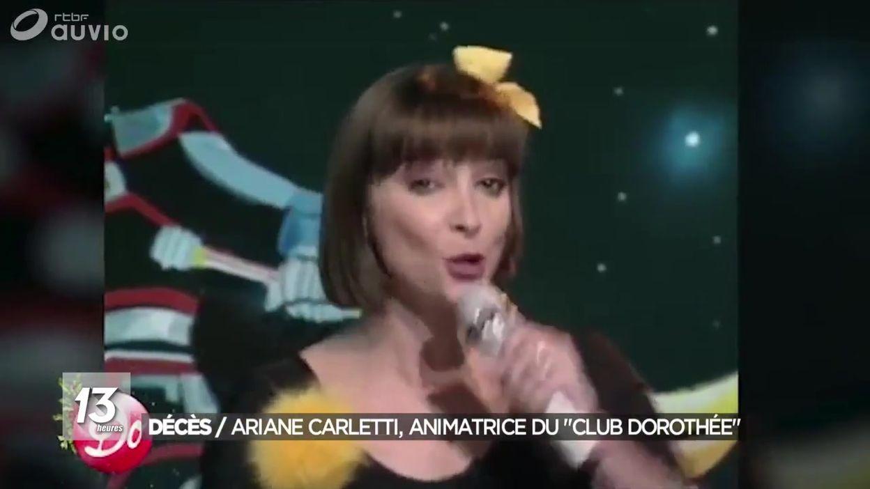 Décès d'Ariane Carletti du Club Dorothée