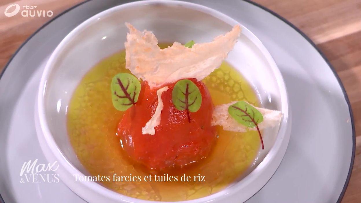 Tuto : tomates farcies, tuiles de riz