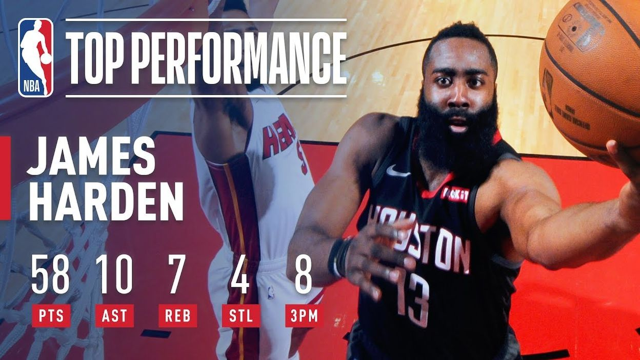 sale retailer 7a549 eacd4 James Harden s BLAZING 58 Point Performance   February 28, ...