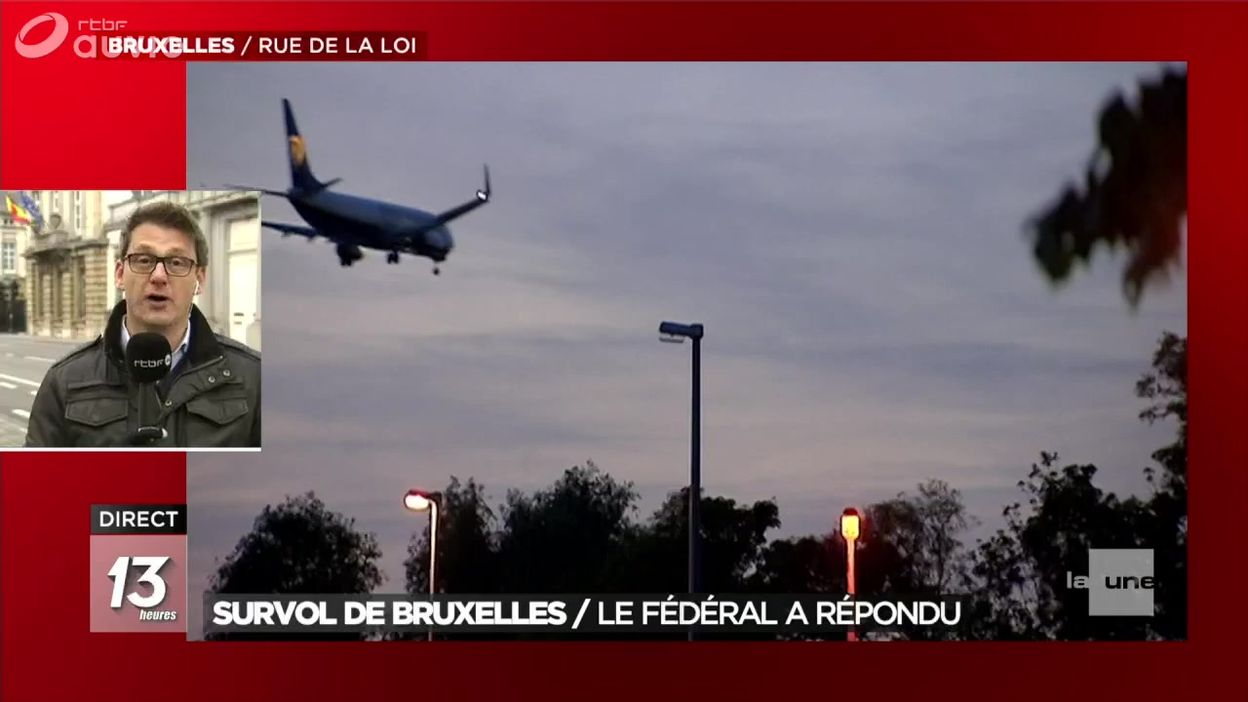 Survol de Bruxelles : le fédéral a présenté ses mesures