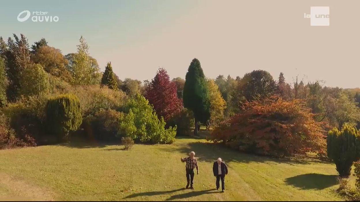 L'arboretum de la Closerie du Rond-Chêne vu du ciel