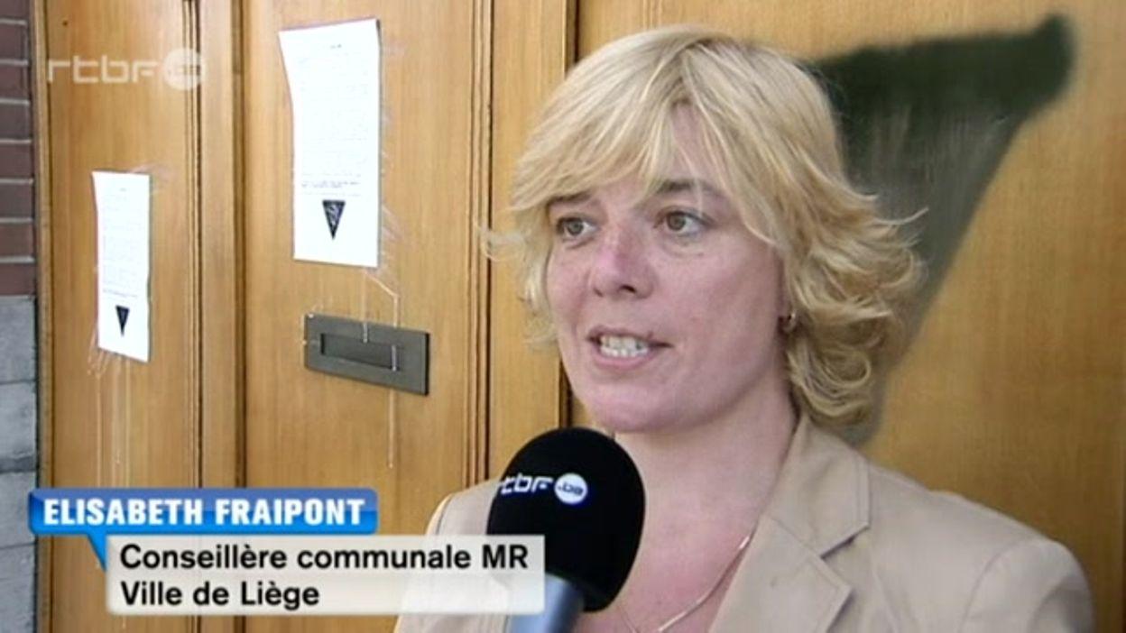 Des maisons privées d'élus MR taguées à Liège - 13/05/2015