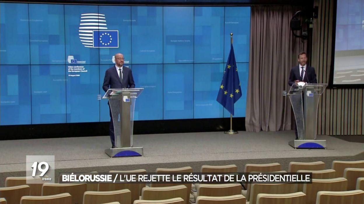 Biélorussie / L'UE rejette le résultat de la présidentielle