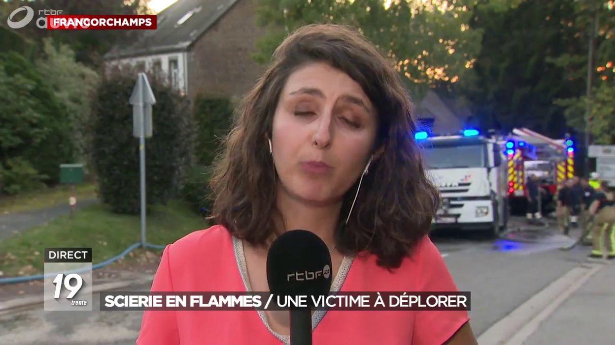 Incendie dans une scierie à Francorchamps: un décès à déplorer