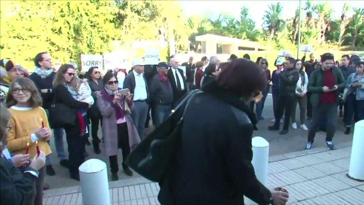 35945f47e8be4 Maroc  rassemblement en mémoire des victimes devant l ambassade de Norvège à  Rabat