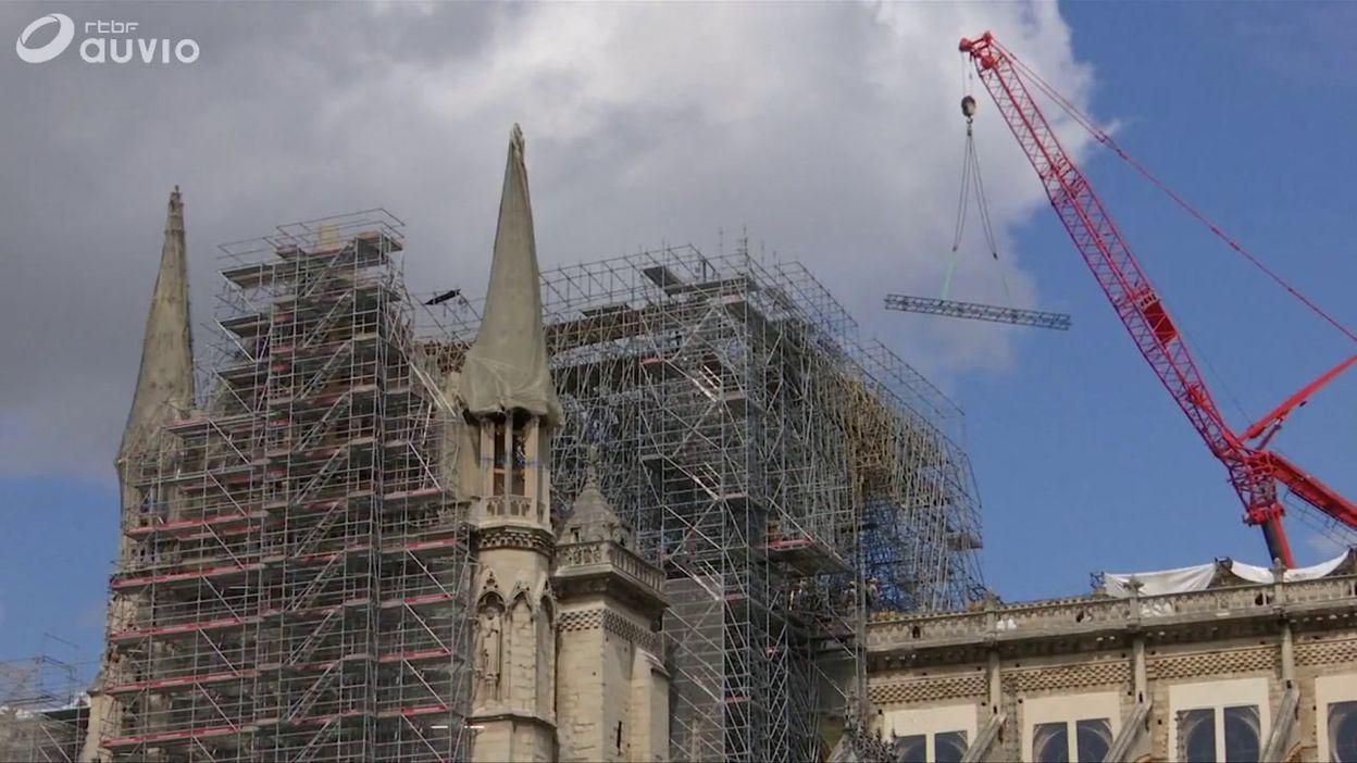 Chantier de la réfection de Notre-Dame de Paris, le 19 août
