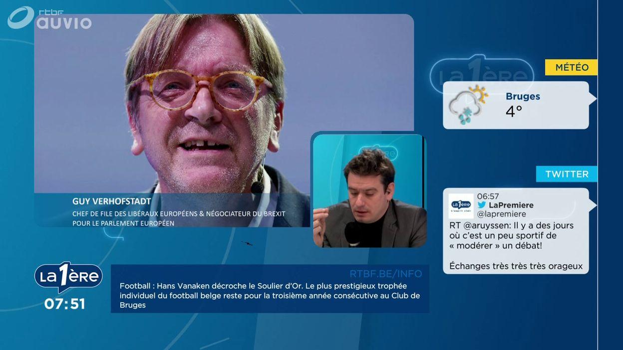 L'invité de Matin Première : Guy Verhofstadt