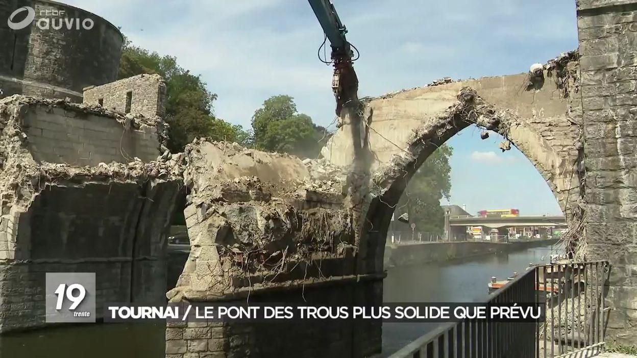 Tournai : le pont des trous plus solide que prévu
