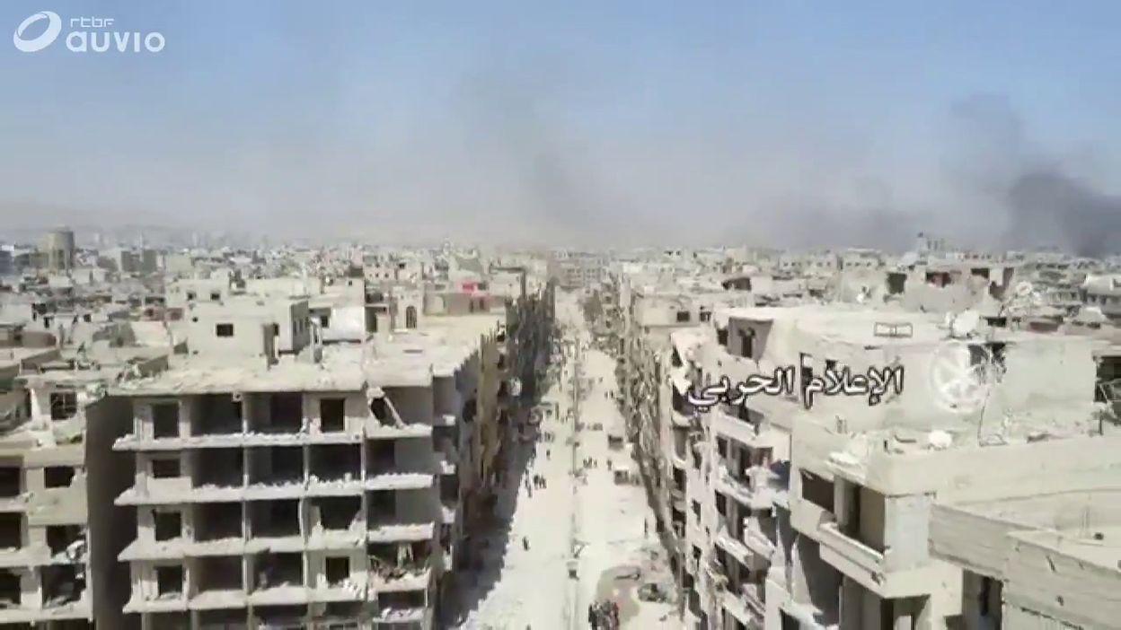 Images de drone au dessus de la Ghouta orientale