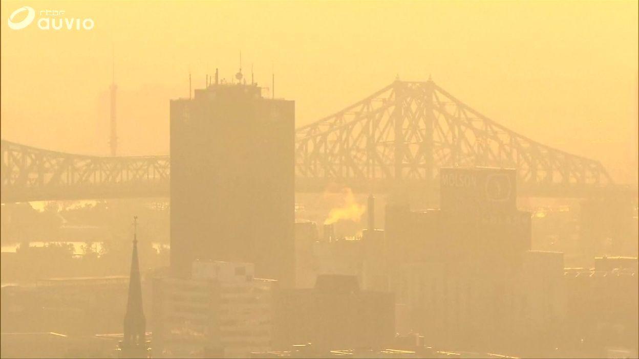 Le Québec en proie à une forte canicule: images tournées à Montréal ce 07 juillet