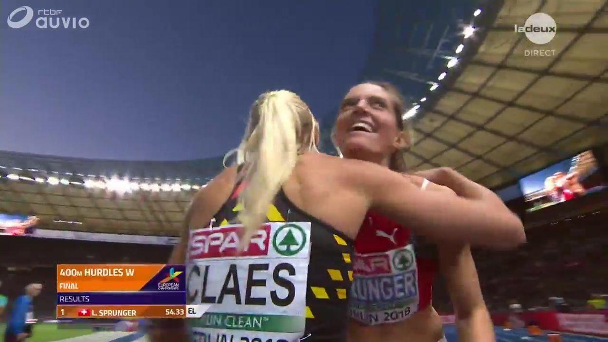 Une belle 4ème place pour Claes sur 400 m haies, le titre européen pour Sprunger