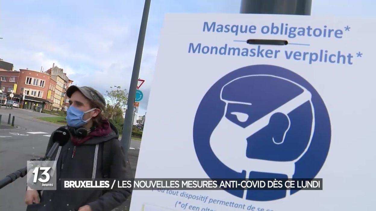 Les nouvelles mesures anti-covid à Bruxelles
