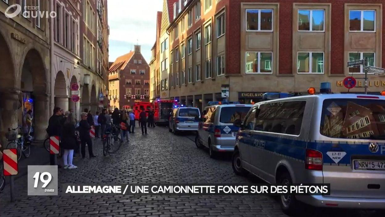 Allemagne : une camionnette fonce dans la foule à Münster