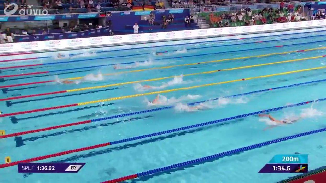 Le relais 4x100m nage libre mixte éliminé