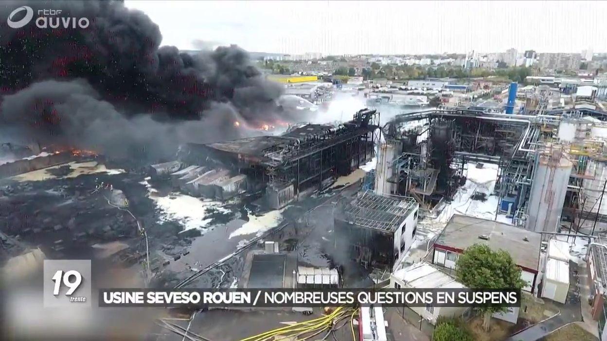Incendie de l'usine Seveso de Rouen : de nombreuses zones d'ombre
