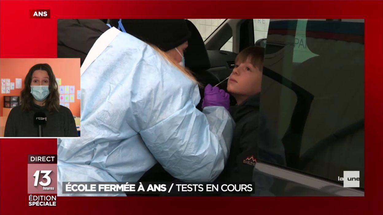 École fermée à Ans: tests en cours
