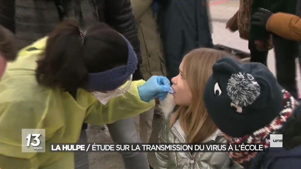 La Hulpe : étude sur le niveau de transmission du virus chez les enfants à l'école