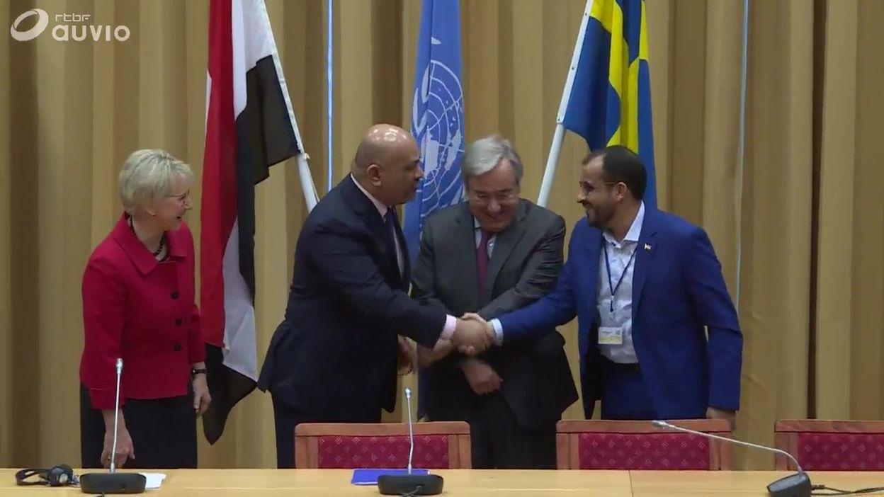Conflit au Yemen : poignée de mains symbolique entre les belligérants