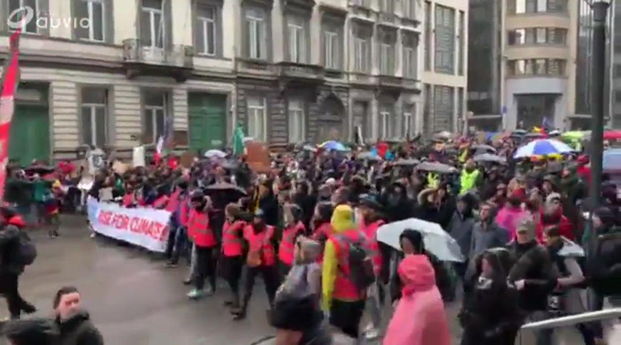 Marche pour le climat: tête du cortège vers 14h45