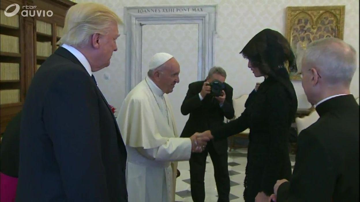 Donald Trump rencontre le pape François - 24/05/2017