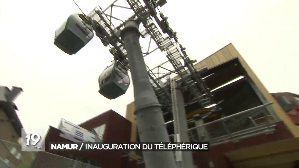 Inauguration du téléphérique de Namur