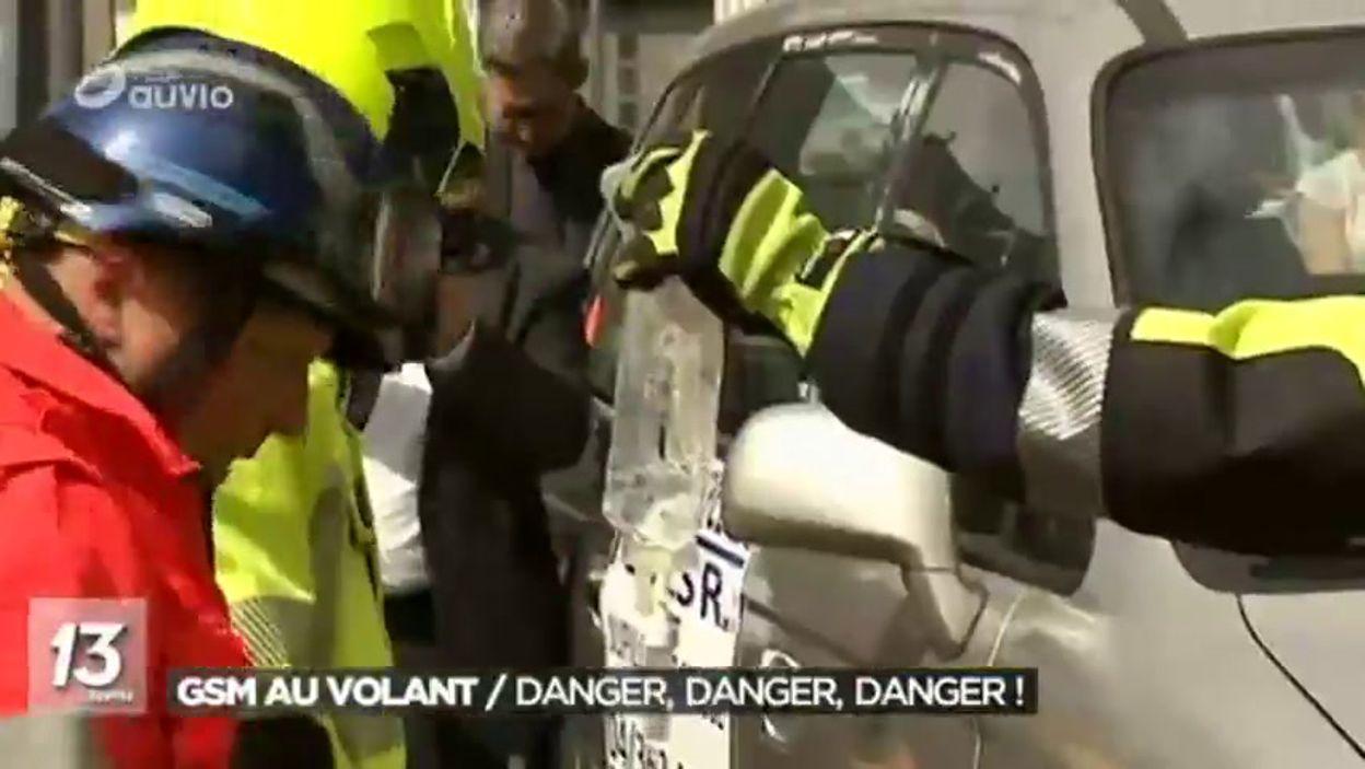 Les dangers du GSM au volant : action de sensibilisation à Liège