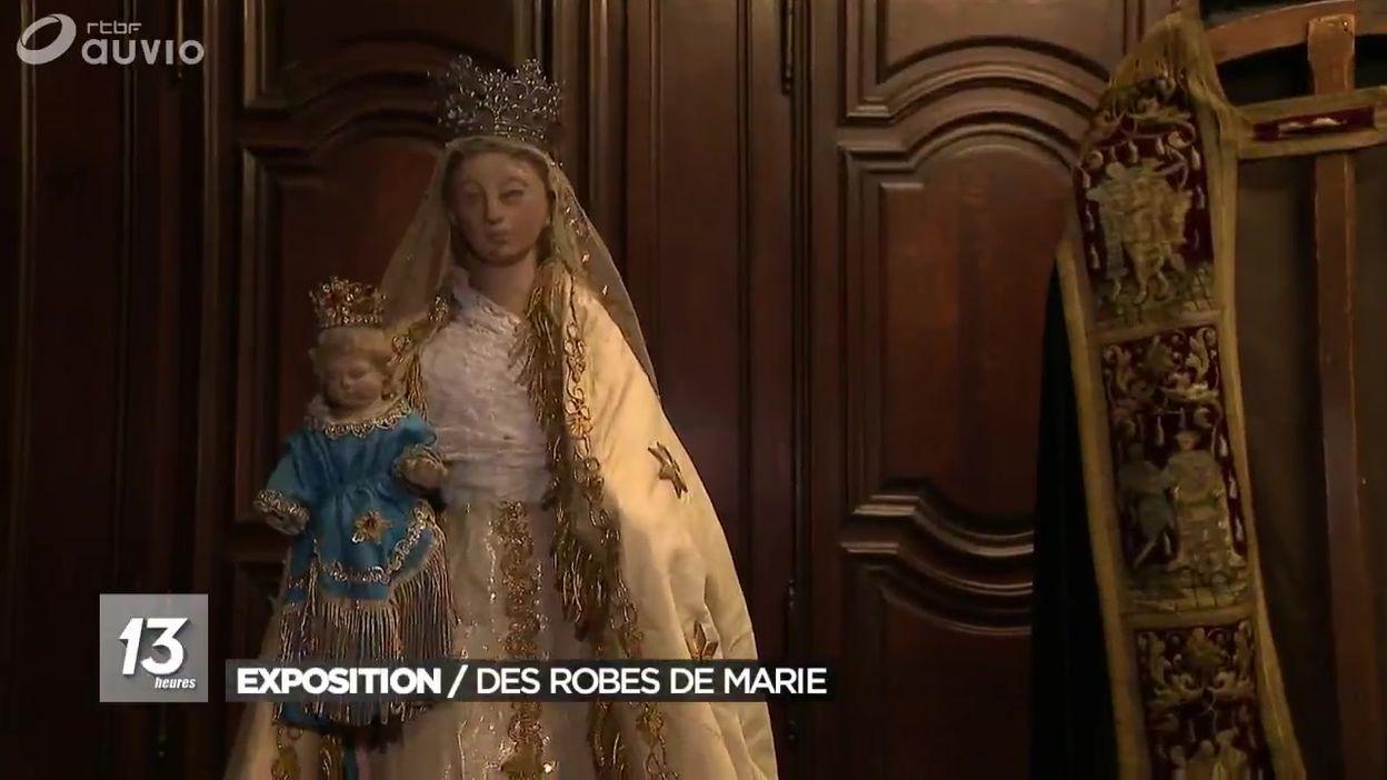 Mons : les robes de la Vierge Marie exposées