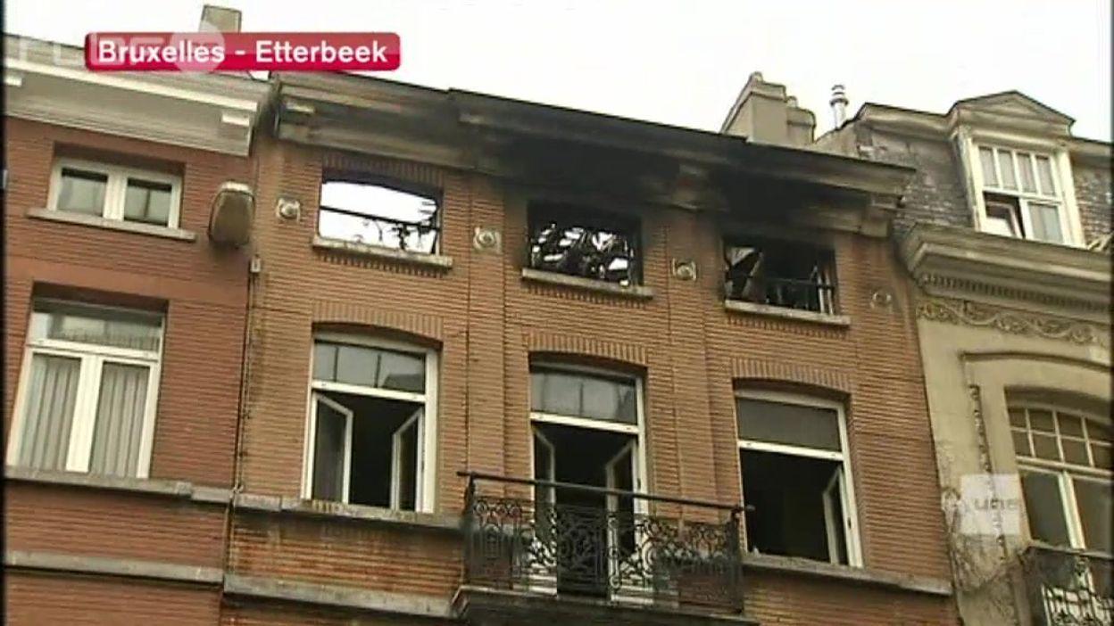 En bref : Dramatique incendie cette nuit dans une maison à Etterbeek