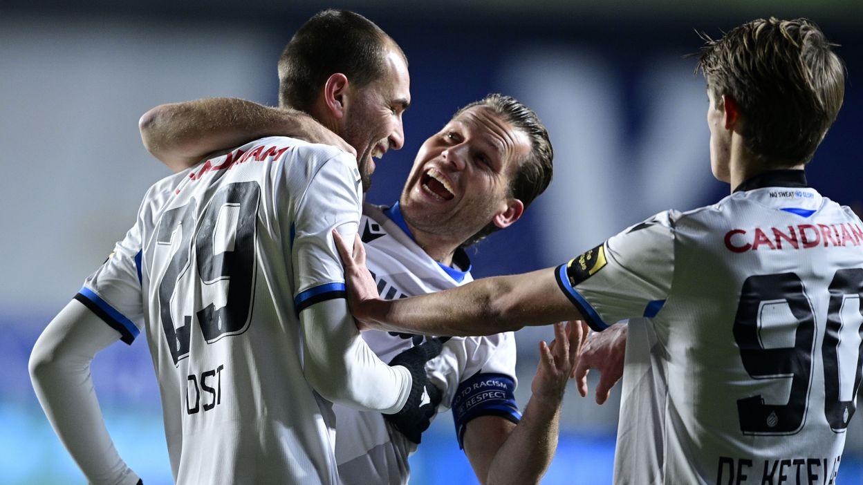 Bas Dost inscrit une volée parfaite dès son premier match avec le FC Bruges