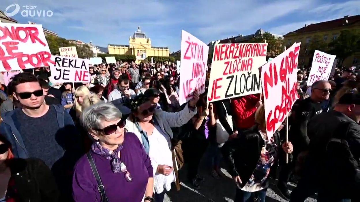 Croatie: des milliers de manifestants réunis à Zagreb contre le laxisme dans les affaires de viol