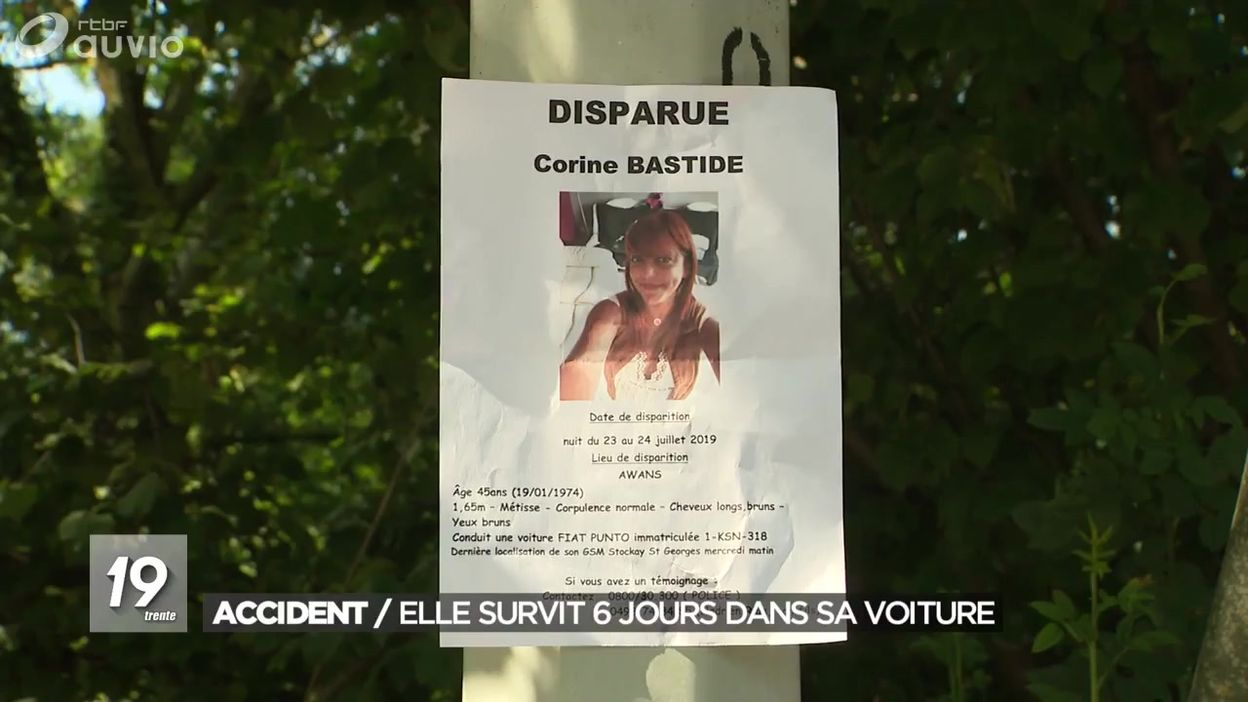 Accident : elle survit 6 jours dans sa voiture