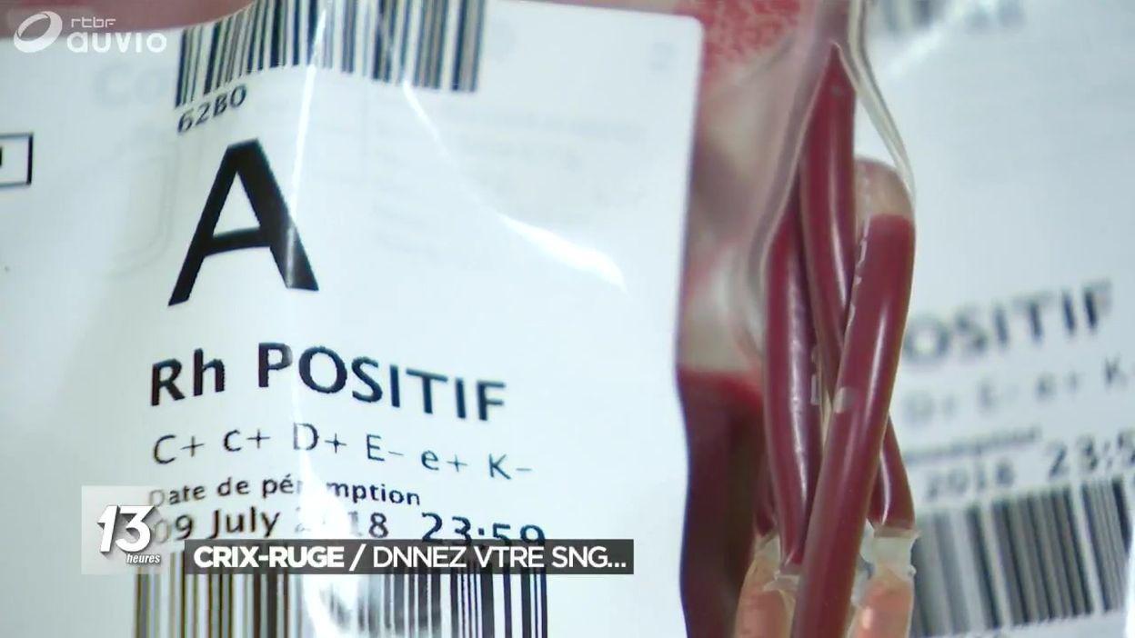 Campagne de la Croix-Rouge pour le don de sang