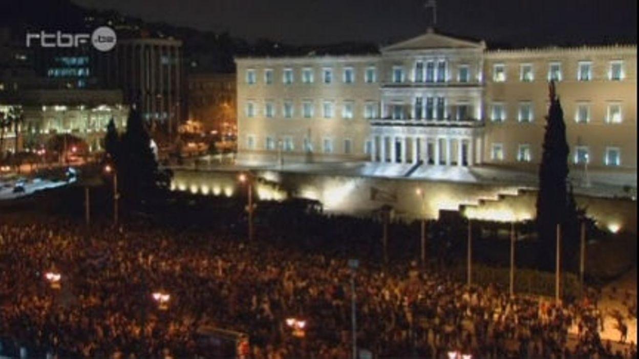 Athènes: manifestation de soutien au gouvernement grec