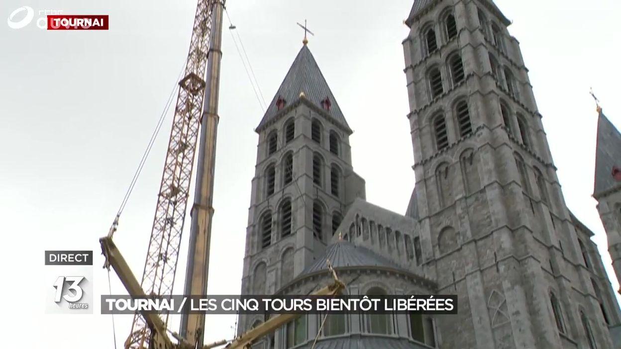 Tournai : les cinq tours bientôt libérées du chantier