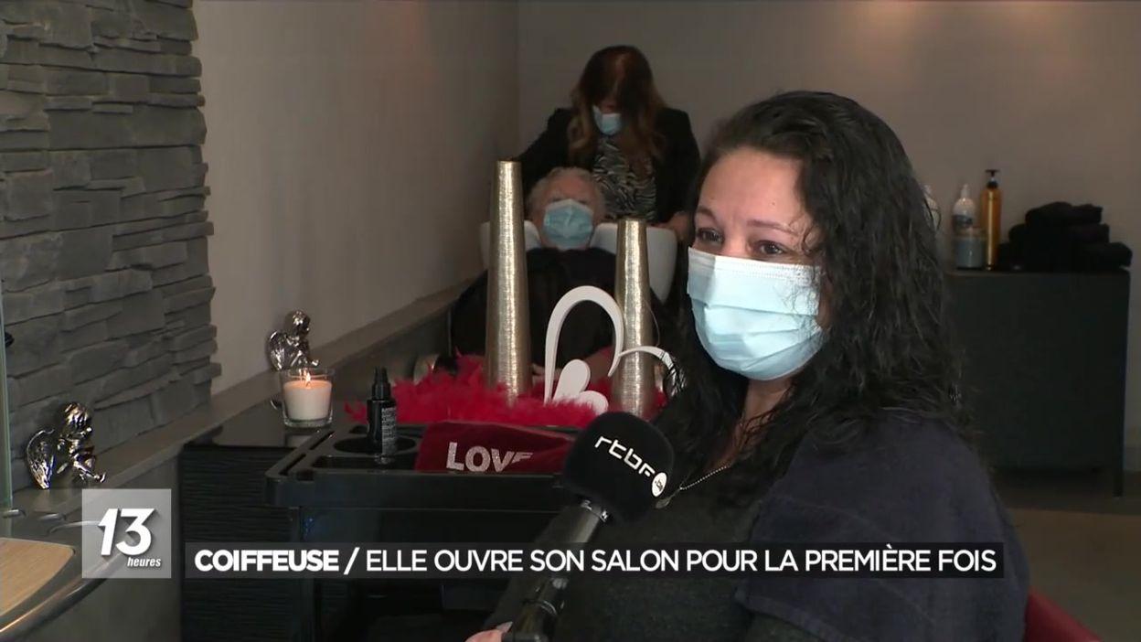 Tubize : une coiffeuse ouvre son salon pour la première fois