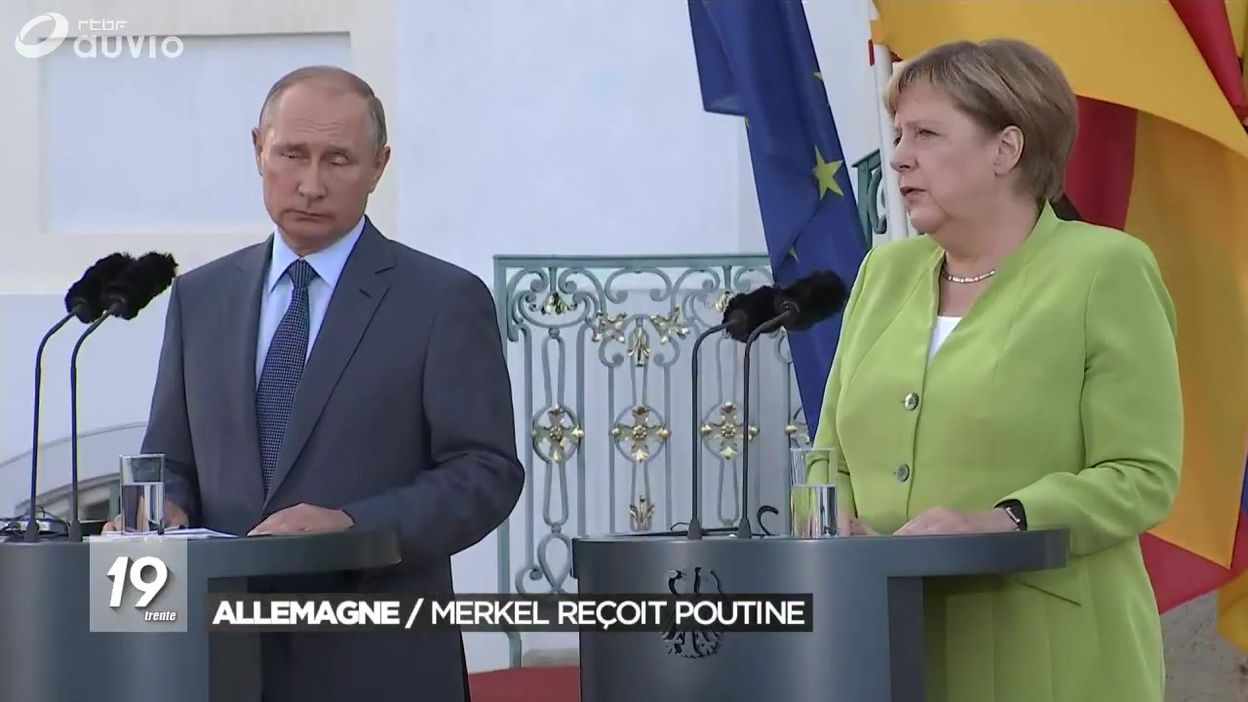 Allemagne :  Angela Merkel reçoit Vladimir Poutine