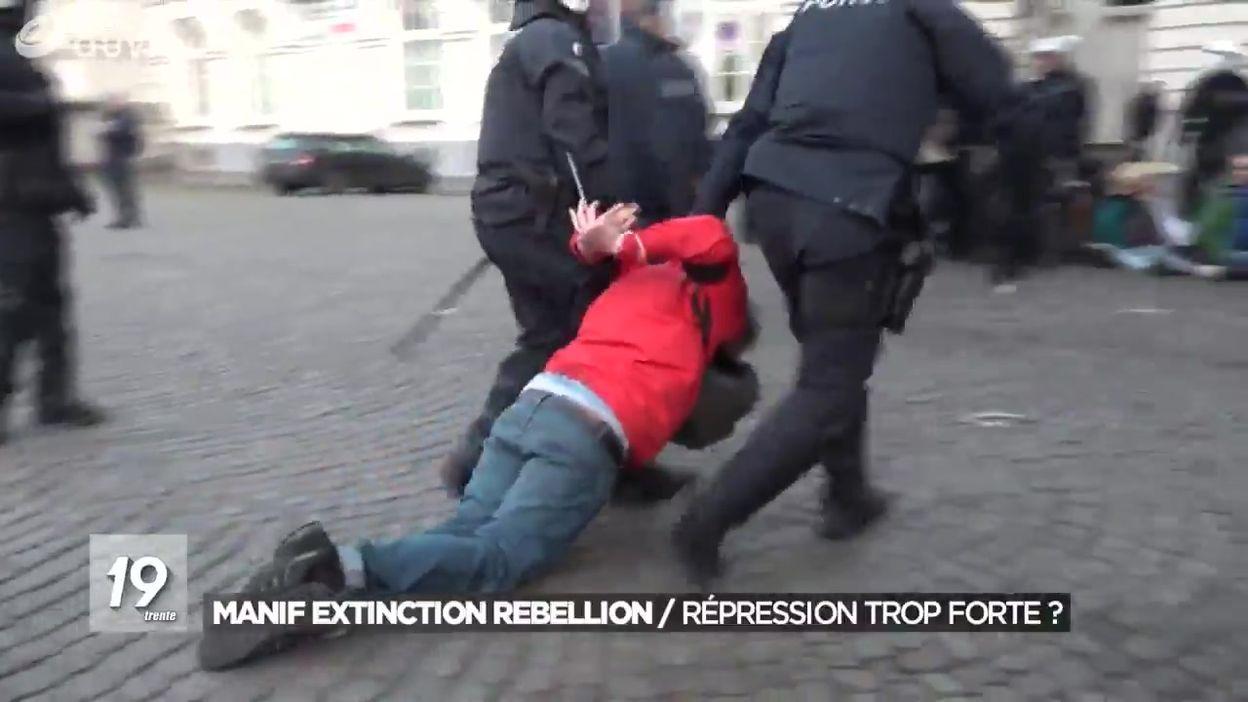 Manifestation de l'Extinction Rebellion : une répression trop forte ?