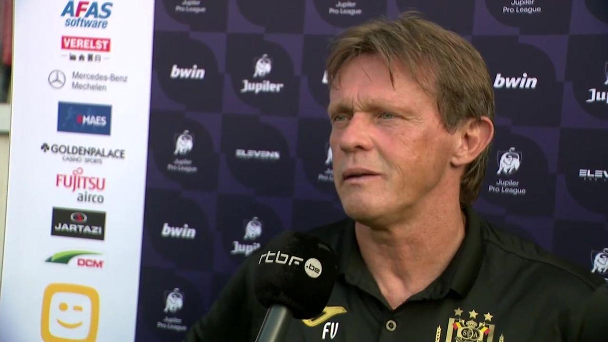 Interview Frank Vercauteren après Malines - Anderlecht