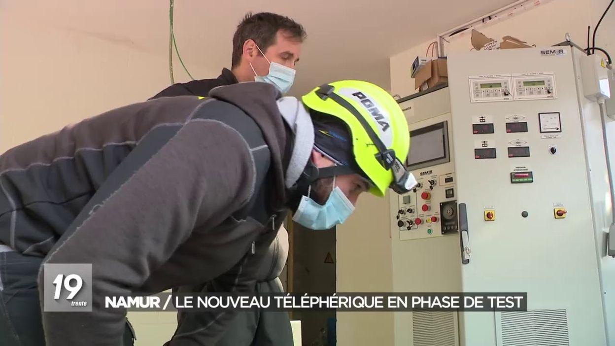 Phase de tests du téléphérique de Namur