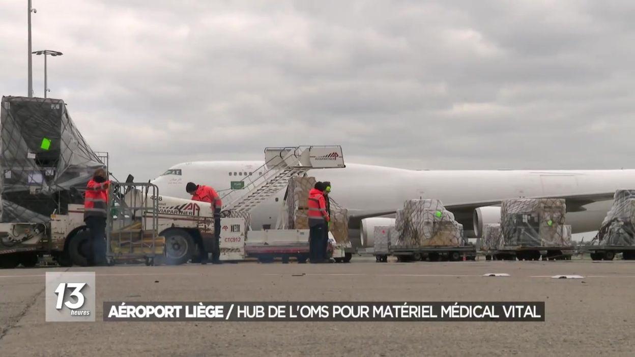 Aéroport Liège : hub de l'OMS pour distribuer du matériel médical vital