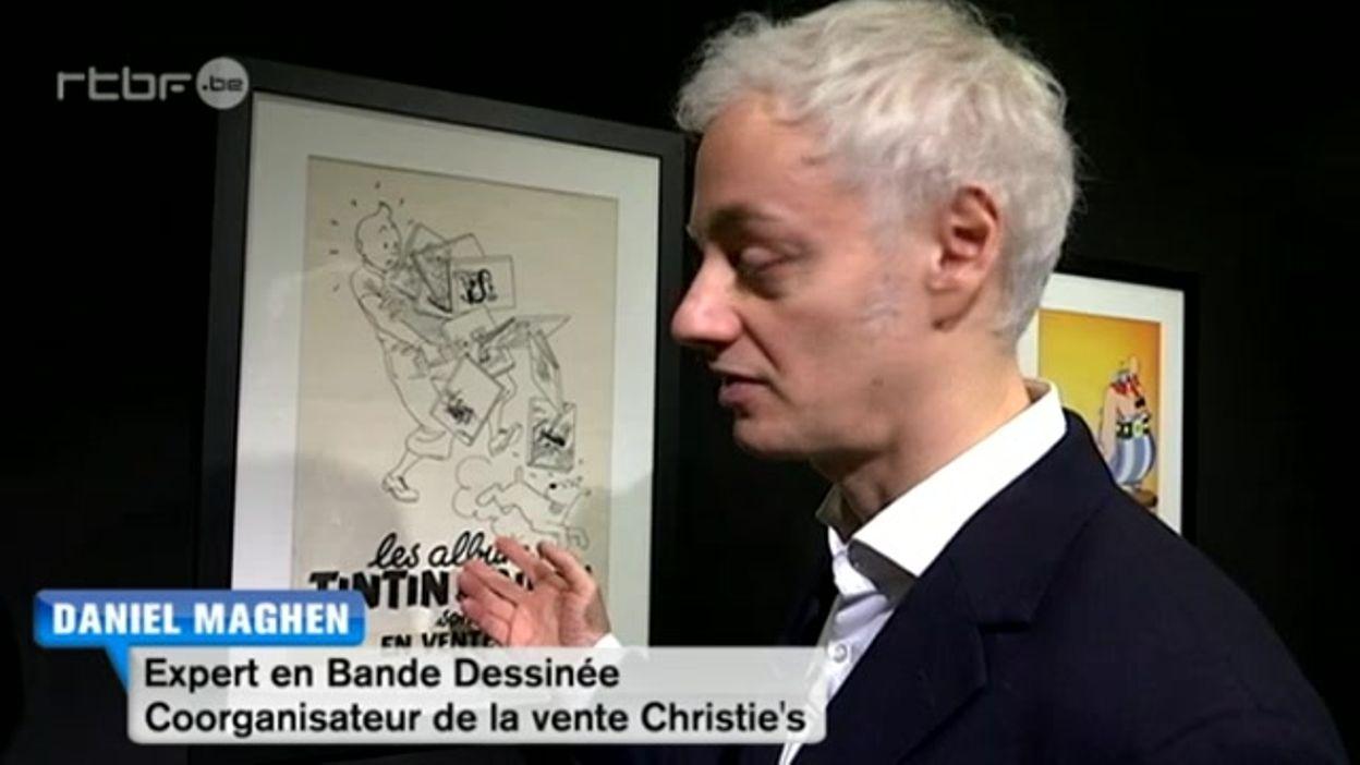 Vente aux enchères chez Christie's, les héros de papier valent de l'or