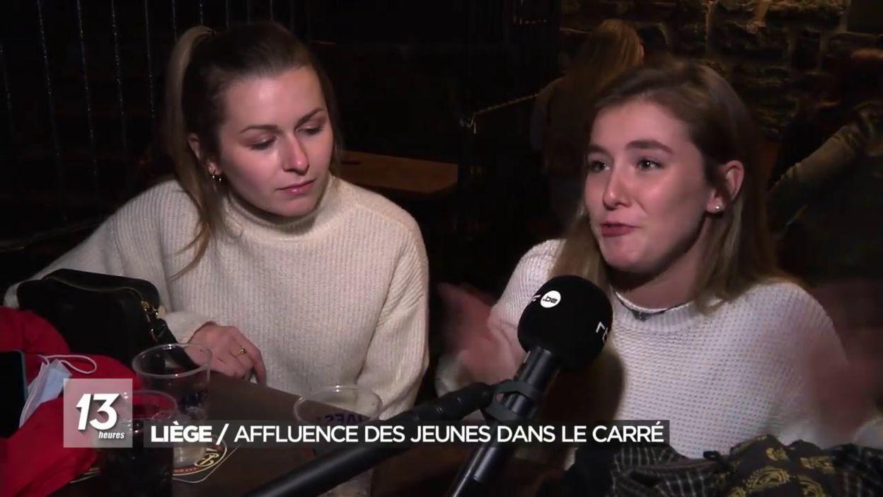 Liège: affluence des jeunes dans le Carré
