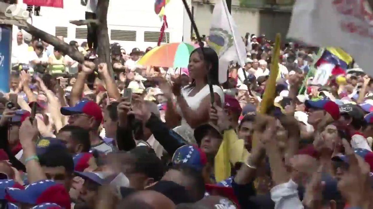 Venezuela: rassemblement avec et en faveur de Juan Guaido à Caracas, ce 16 novembre (espagnol)