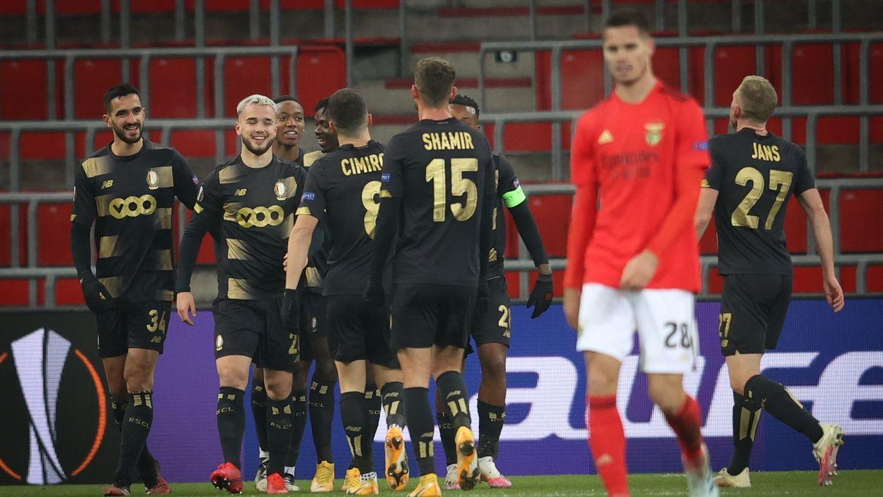L'aérien Nicolas Raskin ouvre son compteurs buts en Europa League d'un joli coup de tête