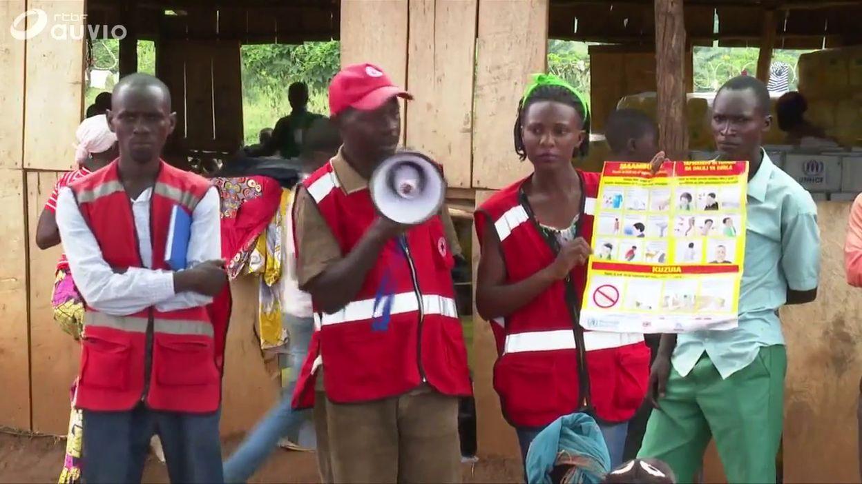 Campagne de prévention contre la propagation du virus ebola, en Ouganda, le 17 juillet