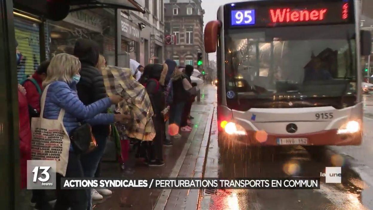 Perturbations dans les transports en commun suite à une action de grève des syndicats