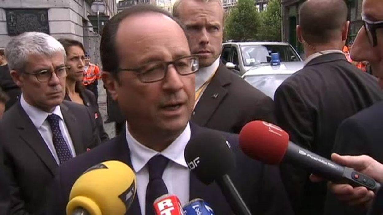 Le président François Hollande au micro de la RTBF