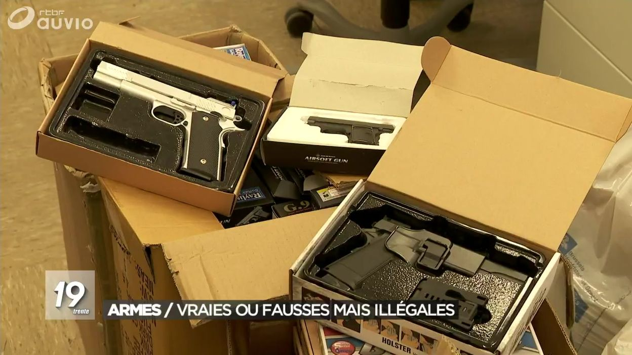 Armes : vraies ou fausses, mais illégales