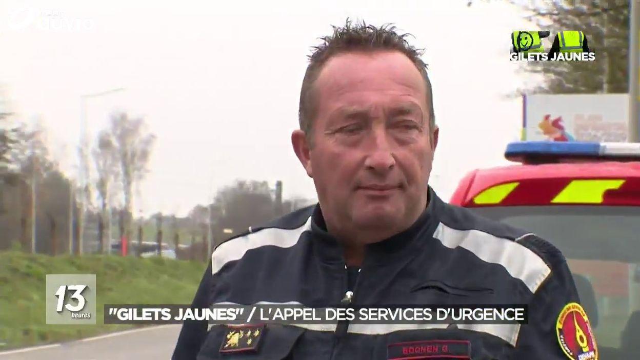 Gilets Jaunes : ambulance bloquée à Couvin